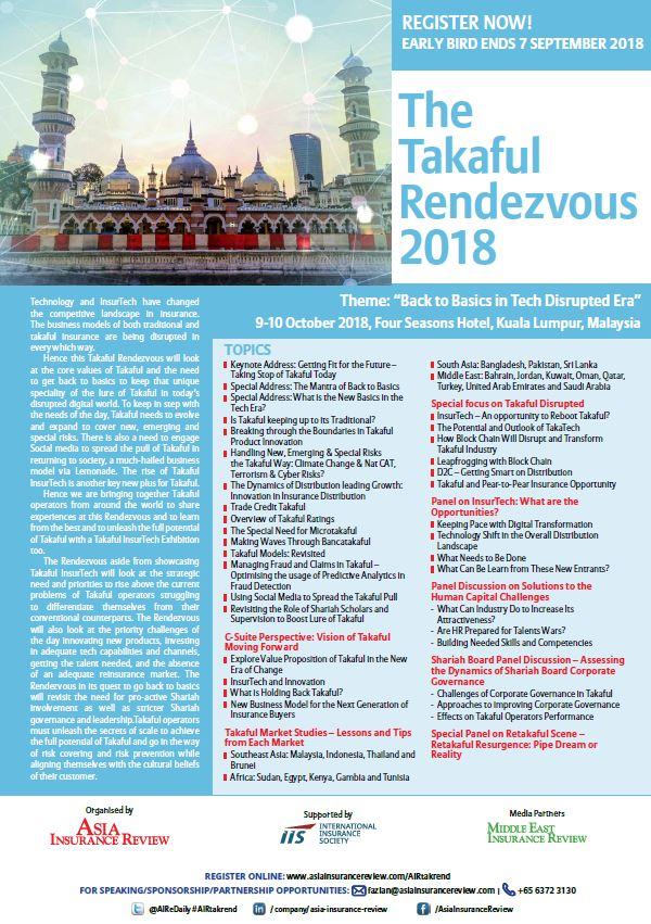 The Takaful Rendezvous 2018 Brochure