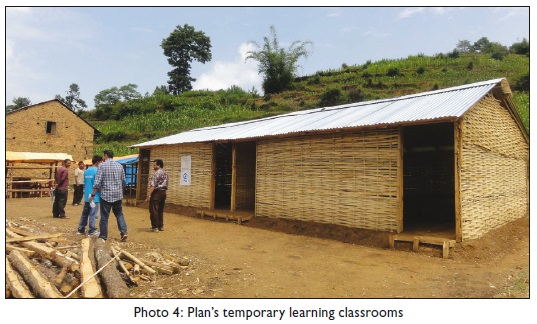 Plan's temporary learning classrooms