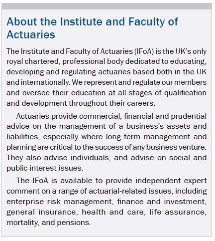 About the Institute and Faculty of Actuaries