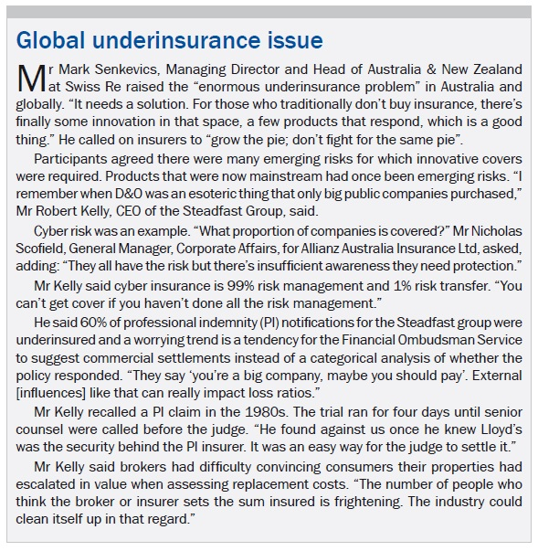 Global underinsurance issue