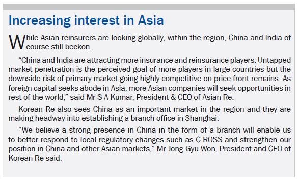 Increasing interest in Asia