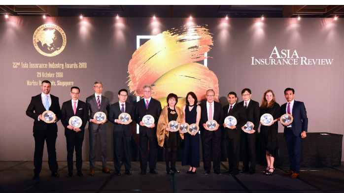 New and repeat winners shine at 22nd Asia Insurance Industry Awards 2018